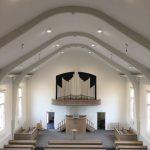 Start en finish van kerkplafond te Katwijk